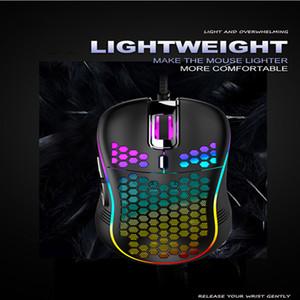Honeycombe creux de jeu de jeu souris câblé 6D 3200DPI gaming gaming souris souris pour ordinateur ordinateur portable joueur souris de gros souris pour jouer lolcs