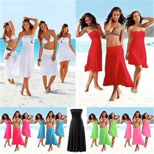 Wrap Breast Skirt Fashion Trend Slim Waist Bikini Outer Blouse Dress Female Summer New Beach Casual Sexy Wrap Skirt Womens