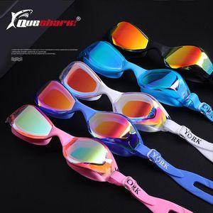 Contest Swimming Glasses Professional Anti -Uv Swim Goggles For Men Women Competition Silicone Adjustable Anti -Fog Swim Eyewear