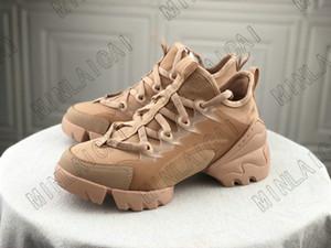 19SS Neopren Sneaker Bayan Lüks Tasarımcıları Su Gri Bağlantı Ayakkabı Şeffaf Kauçuk Tuval Trainers Dantel-Up Runner Ayakkabı