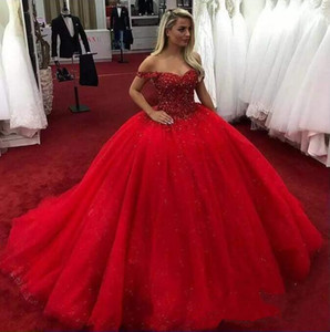 Red Sweetheart Quinceanera Dresses Ball Gowns Appliques Lace Up Sweet 16 Dress Vestidos De 15 Years