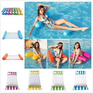Fashion Inflatable Floating Water Hammock Lounge Bed Chair Summer Inflatable Pool Float Swimming Pool Inflatable Bed Beach Playing Tool