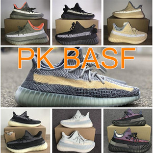 PK BASF Versiyonu Kül Mavi Inci Taş V2 Ayakkabı Fade Kum Taupe Tasarımcı Kuyruk Işık Koşu Sneaker Kadın Erkek Marsh Kanye Batı Yansıtıcı Bred