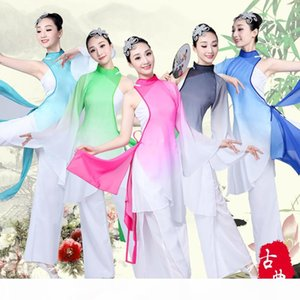 New classical dance costumes national dance costumes Yangko clothing adult elegant Chinese style practice clothes women