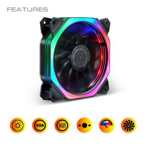 Kühler-PC-Gehäuse-Lüfter 120mm RGB-Lüfter Anpassen der Geschwindigkeit AURA Sync Mute Bunte IR-kühlere Master RGB-Kühlung Computer-Fans