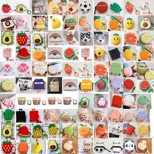 3d لطيف جميل الكرتون الفاكهة الحيوان لابل airpods حالة airpod 2 3 برو سماعة شاحن مربع غطاء واقي سماعة اكسسوارات