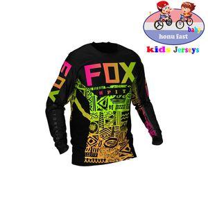 Kids Off Road ATV Racing Футболка Am Fox Велосипед Велоспорт Велосипед Даунхилл Джерси Мотоцикл Джерси Мотокросс MTB DH MX ROPA D Мальчики Q1205