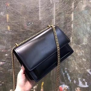 Designer Handbags di lusso borsette di alta qualità sacchetto di lembo tramonto catena portafoglio donna borse a tracolla Paris fashion totes crowbody bag nero