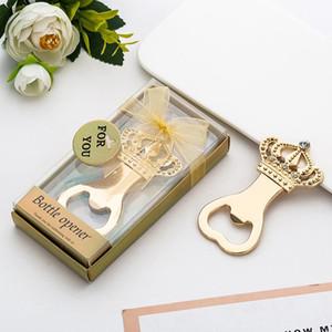 Creative Golden Gold Garrafa abridor de casamento lembranças de coroa em forma de garrafa abridor de aniversário aniversário de aniversário para convidado HWF3361