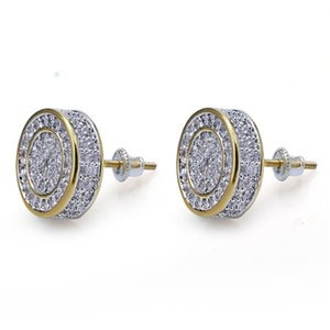 Designer Earrings Hip Hop Jewelry Luxury Mens Stud Earrings Brand Iced Out Diamond Fashion Gold Silver for Men Bling Crystal Accessories .