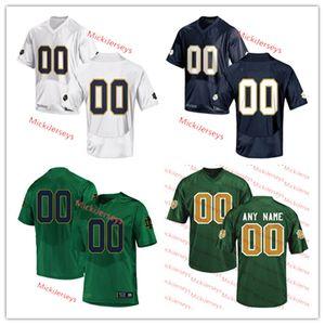 Mens Custom NCAA ND Football Jersey # 3 Houston Griffith # 10 Drew Pyne genäht # 25 Chris Tyree Jersey # 12 Ian Buch # 7 Brendon Clark Jersey