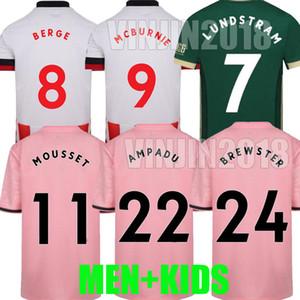 20 21 Egan Üçüncü Futbol Formaları Berge Mousset Brewster 2020 2021 McBurnie Lundstram Fleck Erkekler Çocuklar Kiti Ampadu Futbol Gömlek Keskin Tayland