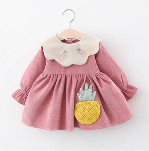 Girls Dress 2020 Autumn Fashion Long Sleeve Princess Dresses for Girls Clothing Newborn Vestidos Baby Girl Clothes 0-2years