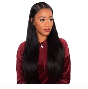 Full 360 Lace Frontal Straight Wig Natural Color Lace Wigs with Baby Hair Brazilian Human Remy Hair