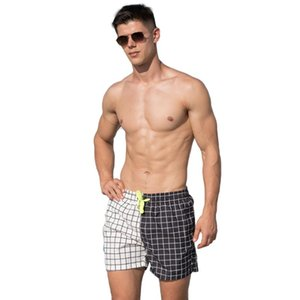 Plus Size Mens Beach swim Board shorts Nylon swimming Shorts Quick Dry Bermuda Surf Trunks male plaid Surfing swimsuit