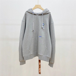 Embroidery Hoodie Men Women Top Quality Back Z-stitch Sweatshirts