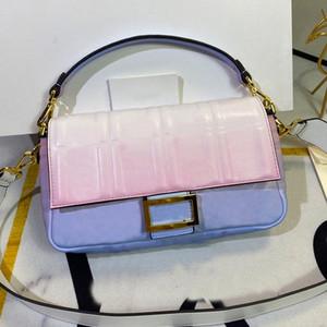 Frauen Umhängetasche Geldbörse Crossbody Bag Fashion Tie Dye Patchwork allmähliche Sternenhimmel Flip Magnetische Schnalle Innentasche Echtes Leder
