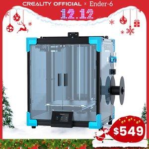 Creality 3D الطابعة NEW CORE-XY ENTER-6 الطباعة الكبيرة 250 * 250 * 400mm اللوحة الأم الصامتة carborundum الزجاج طباعة السرير استئناف