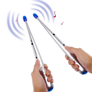 Electronic Musical Drumstick Electric Drum Sticks Rhythm Percussion Air Finger Stix Kit Novelty Gift Kids Educational Toy LLS345