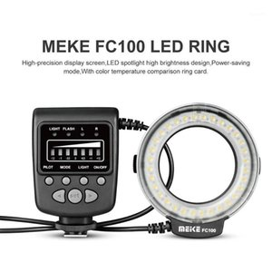 Speedlite LED فلاش ضوء الدائري speedlite الدائري ملء مصباح meike fc100 واحد الاتصال نوع الشعبية دليل العالمي ل dslr كاميرا 1