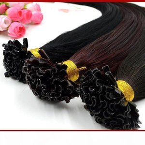 "18"" 20"" 100g U Tip Hair Extensions Human 1g s Indian 100% Indian Virgin Human Hair Keratin Fusion Hair Extensions"