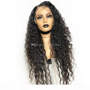 Curly Wave Human Hair Wigs 5x5 Silk Top Lace Frontal Wig 150% Density Lace Front Human Hair Wigs Indian Curly Wigs For Women