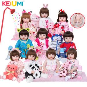 Atacado Keiumi Full Silicone Vinil Vinil Bonecas Renascidas Moda Boneca Impermeável Bebê Brinquedo Para Crianças Presentes De Aniversário PlayMate Q1124