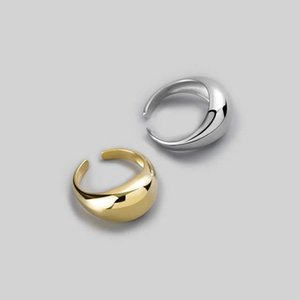 925 Sterling Silver Rings Gold And Sliver Geometric 925 Silver Wedding Fine Jewelry Minimalist Gift Adjustable