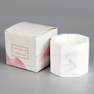 Marble Plaster Scented Candle Freesia Blackberry Laurel Scented Candle Christmas Valentine Day Wedding Gift Aromatherapy Candles
