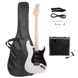 Nouveaux kits de guitare électrique élégants 6 cordes avec pickguard noir 2 couleurs Sensation confortable Sentier de USA