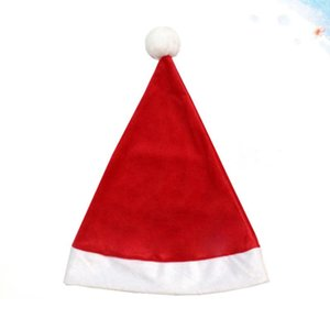 1pc Red Santa Claus Hat Christmas Hat Singing Decoration for Kid Adult Xmas Cap Festival Decor Gift Bag