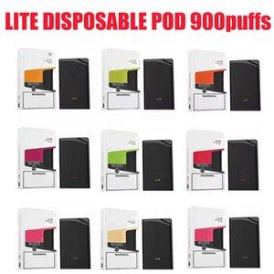 P O P Lite DISPOSABLE Pod Device Kit 900 Puffs 500mAh Battery Prefilled 3ml Cartridge Vape Empty Pen 9 Colors VS Bar Plus XXL Xtra