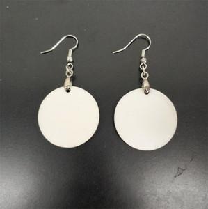 Pendiente de moda Sublimación en blanco Hoop Stud Twosed DIY Impresión de bricolaje Hoja redonda Pendientes de perlas Cuadrado New Pattern Womens New Llegada 1 9BD M2