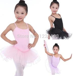 New Summer Kids Child Lavender Black Pink Party Dance Ballerina Short Ballet Tutu Skirt For Girls Skirted Leotard