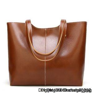 Designer Ladies Luxury Pu Women Shoulder Purses Handbags Oil Wax Leather Large Capacity Tote Bag