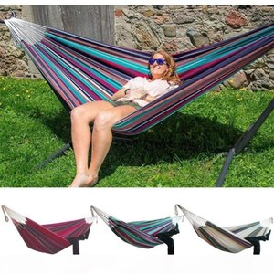 Indoor Comfort Durability Yard Striped Hanging Chair Large Chair Hammocks Thick and widened canvas indoor hammock multiple 65