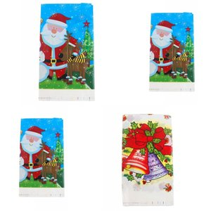 Disposable Table Cloth Party Decoration Cartoon Style Tables Covers Santa Claus Pattern Pearlescent Film Tablecloth New Arrival 2 2hy L1