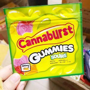 Cannaburst Gummmies Packaging 500mg Cannaburst Edible Packaging odore borse a prova di odore acido Gushers EDIbles Svuoti BAG BAGS MYLAR