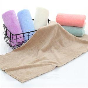 Мягкие полотенца Pure Color Face Полотенце ватки Детская вода Усвоение Полотенца Открытый Путешествие Портативный полотенце для рук Домашний текстиль FWB3116