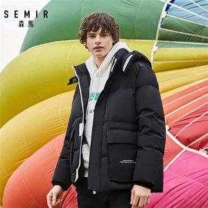 SEMIR Tooling jacket men short sytle 2020 winter new youth trend handsome thick warm adult casual down coat man Q1119