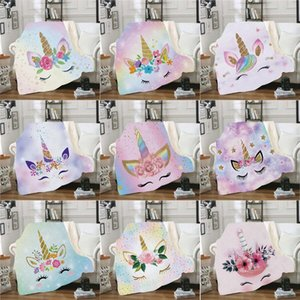 3D Digital Printing Cartoon Cute Unicorn Blanket Adults Soft Thickness Coral Fleece Air Conditioning Sofa Bed Throw Blanket DDA820