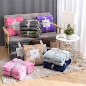 Flanelldecke Weiche Warme Korallen-Fleece-Decke Winter-Bett-Bettdecke-Sofa-Plaid-Wurf 270GSM Licht dicke mechanische Waschendecke