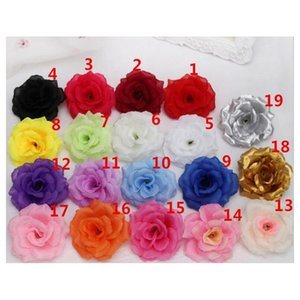 new artificial rose flower heads cloth decorative flowers party decoration wedding wall flower bouquet white artificial roses bouquet