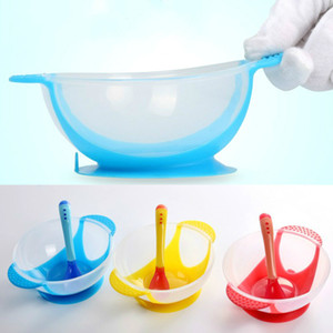 Learning Dishes Service Plate Tray Suction Cup Baby Dinnerware Set Temperature Sensing Feeding Spoon Child Tableware Food Bowl