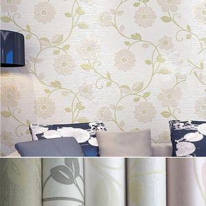 10 Meter Three-dimensional Non-woven Wallpaper 3D Romantic Pastoral Warm Bedroom Living Room Bedside TV Background Wallpaper