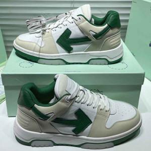 Homens brancos sapatos verdes seta sapatos casuais homens sneakers womens marca sneakers antiderrapantes sola clássicos do tamanho dos anos 80 35-46 com caixa