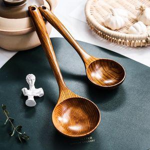 Cucchiaio in legno Cucchiaio in legno Cucchiaino in legno Giapponese Hot Pot Super Large Long Maniglia addensata