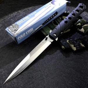 Холодная сталь 26SXP Ti Li Te XL 6 складной нож Stiletto Sword Atin Rainly Blade Black Zyex ручка на открытом воздухе кемпинг тактические ножи