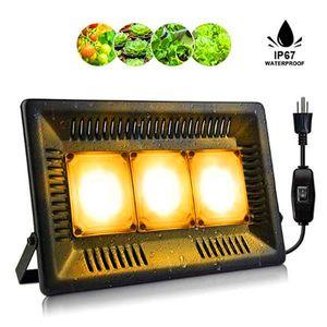 Hot sale 450W Square full spectrum Led Grow Light black High Efficiency COB Technology Waterproof Grow Lights CE FCC ROHS
