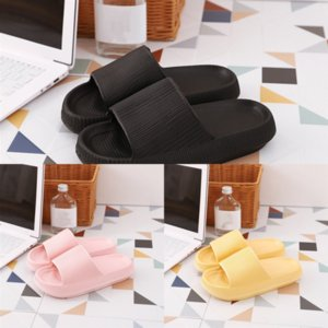 OGD7x One Bread Winter Cotton Slip Shoes Thick Bottom Women Shoes Warm Fat Slippers Cute Cartoon Animal Pure Color Size woman Couple